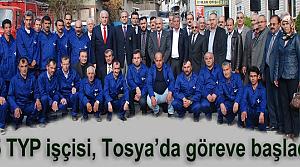25 TYP işçisi, Tosya'da göreve başladı