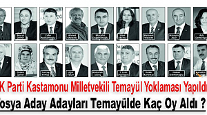 AK PARTİ KASTAMONU TEMAYÜL YOKLAMASI YAPILDI