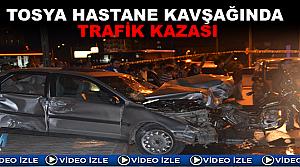 Hastane Kavşağında Trafik Kazası