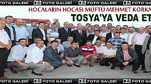 Hocaların Hocası Müftü Mehmet Korkmaz'a Veda Yemeği