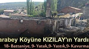 Karabey Köyüne Kızılay Yardımı