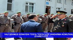 KASTAMONU VALİSİ TOSYADA JANDARMA KOMUTANLIĞI VE ESNAFI ZİYARET ETTİ
