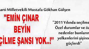 M.GÖKHAN GÜLŞEN '' EMİN ÇINAR'IN SEÇİLME İHTİMALİ...