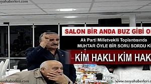 MUHTAR ÖYLE BİR SÖZ ETTİ Kİ SALON BUZ...