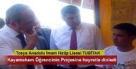 Tosya Anadolu İmam Hatip Lisesinde TÜBİTAK 4006 Bilim Fuarı açıldı