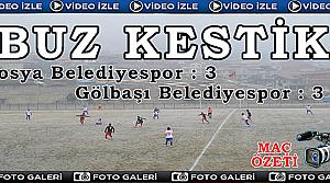 Tosya Belediyespor:3 - Gölbaşı Belediyespor:3