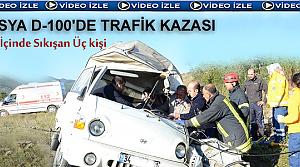 Tosya D-100 de Trafik Kazası ( VİDEO HABER )