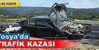 TOSYA D-100#039;DE TRAFİK KAZASINDA 3 KİŞİ ÖLÜMDEN DÖNDÜ