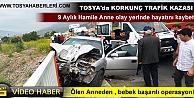 TOSYA D-100 TRAFİK KAZASI 9 AYLIK HAMİLE KADIN HAYATINI KAYBETTİ