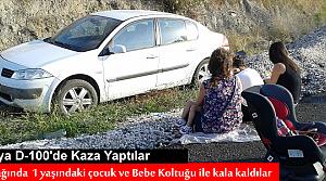 Tosya D-100'de 1 aile Ölümden Döndü