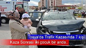 Tosya D-100de Trafik Kazası 7 Kişi Yaralandı