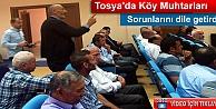 TOSYA#039;DA KÖY MUHTARLARI SORUNLARINI KAYMAKAMA ANLATTI