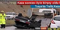 TOSYA#039;DA TRAFİK KAZASI SONRASI YAŞANANLAR