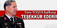 Tosya Garnizon ve Jandarma Komutanı Sefer Sezer#039;in Teşekkür Mesajı