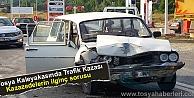 TOSYA - KASTAMONU YOLUNDA TRAFİK KAZASI (VİDEO HABER )