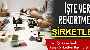 TOSYA KURUMLAR VERGİSİ REKORTMENLERİ