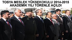 TOSYA MESLEK YÜKSEKOKULU 2014-2015 AKADEMİK YILI TÖRENLE AÇILDI