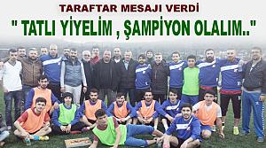 Tosya Spor'a Taraftarlardan Baklavalı Destek