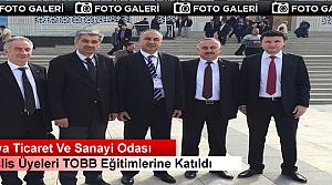 TOSYA TİCARET ODASI TOBB SEMİNERİNE KATILDI