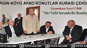 TOSYA'DA AFAD KONUTLARI KURASI ÇEKİLDİ
