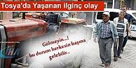 TOSYADA DALGIN SÜRÜCÜ TRAKTÖR ÇALINDI DİYE POLİSE GİTTİ