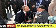 TOSYA'DA KAYMAKAMI KORE GAZİSİ KARŞISINDA DİZ ÇÖKTÜ