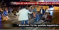 TOSYADA ÜNİVERSİTE ÖĞRENCİLERİ D-100 KARAYOLUNU TRAFİĞE KAPATTI
