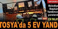TOSYADA YANGINDA 5 EV TAMAMEN YANDI