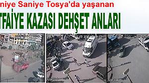 TOSYA#039;DA YAŞANAN TRAFİK KAZASININ DEHŞET ANLARI