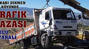 Yukarı Dikmen Köyünde Trafik Kazası