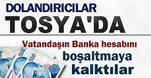 TOSYADA DOLANDIRICILAR YAKALANDI