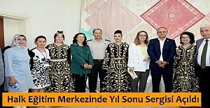Halk Eğitim Merkezinde Yıl Sonu Sergisi Açıldı