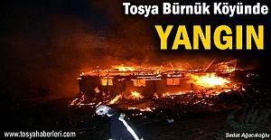 Bürnük Köyünde Yangın meydana geldi