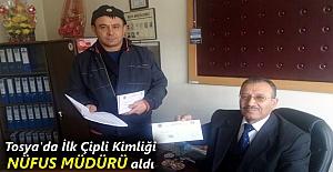 Tosya'da İlk Çipli Kimlik Kartları Teslim Edildi