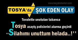 Tosya'da tuvalette unutulan tabanca Asayiş Polislerini teyakkuza geçirdi