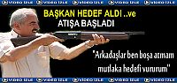 Başkan Kazım Şahin Tüfeği Eline aldı