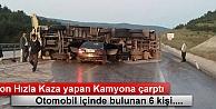 Tosya'da Trafik Kazasın Araç içinde 6 kişi yaralandı