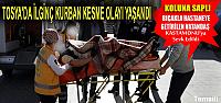 TOSYA'DA ACEMİ KASAP KOLUNA BIÇAK SAPLADI