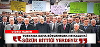 Tosya'da Başkana Saldırı Protesto Edilldi