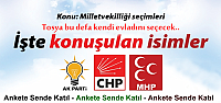 TOSYA'DAN KİM MİLLETVEKİLİ ADAYI OLMALI...