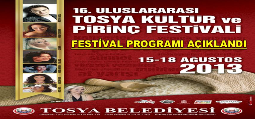 Tosya 16. Uluslararası Kültür ve Pirinç Festivali Programı Belli Oldu