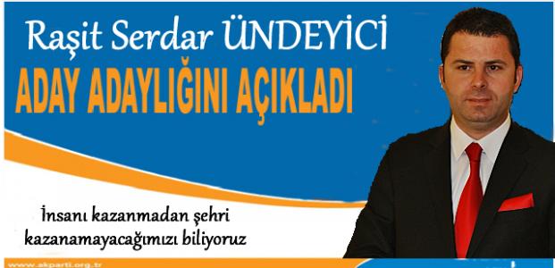 Tosya Ak Parti Belediye Başkanı İlk Aday Adayı Raşit Serdar Ündeyici