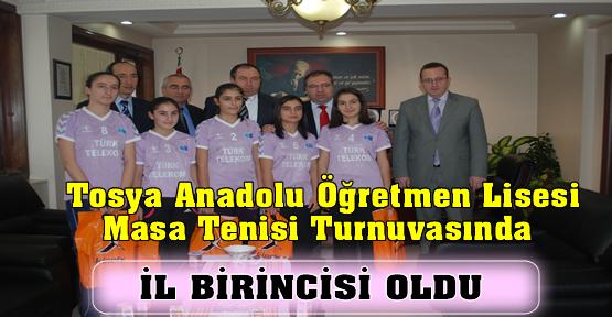 Tosya Anadolu Öğretmen Lisesi Masa Tenisi İl Birincisi