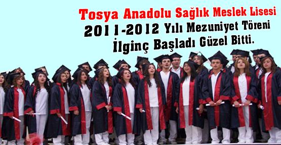 Tosya Anadolu sağlık Meslek Lisesi Mezuniyet Töreni