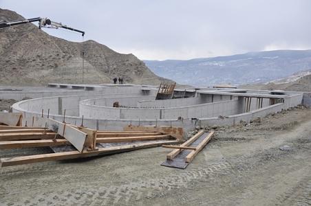 Tosya Atıksu Arıtma Tesisi'nde betonlama işlemleri yüzde 100 oranında tamamlandı