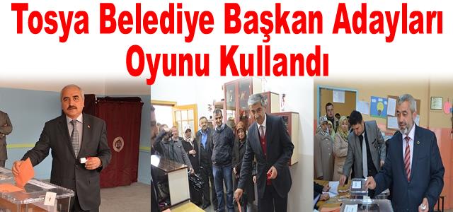 Tosya Belediye Başkan Adayları Oyunu Kullandı
