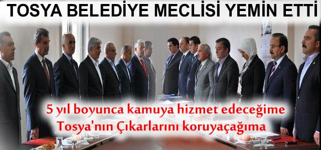 Tosya Belediye Meclisi Yemin Etti