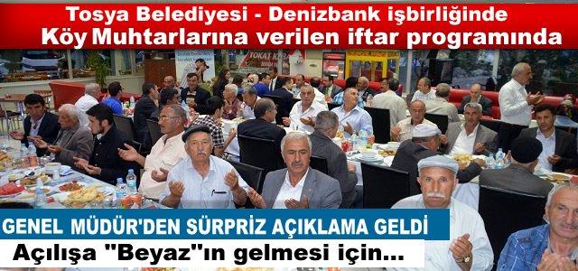 TOSYA BELEDİYESİ İFTAR YEMEĞİNE ''BEYAZ''DAMGA VURDU