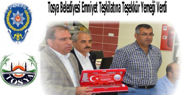 Tosya Belediyesi İlçe Emniyet Teşkilatına Teşekkür Yemeği Verdi