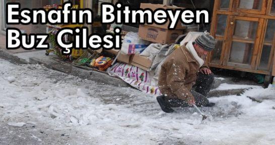 Tosya Belediyesi  Kar-Buz Temizliğini Hızlandırdı